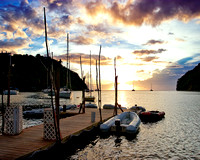 St. Lucia Sunset on Marigot Bay